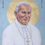 Pope John Paul 2 orig artwork by EM Zelasko